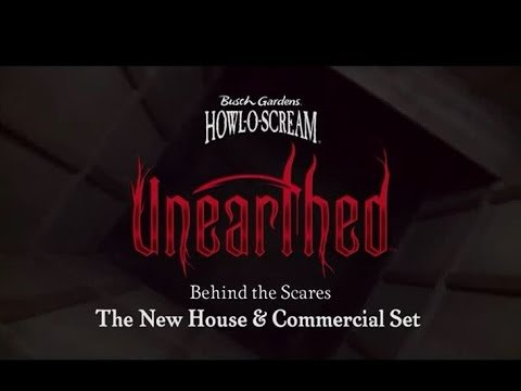 Behind the Scares – The New Haunted House & Commercial Set | Busch Gardens Williamsburg VA