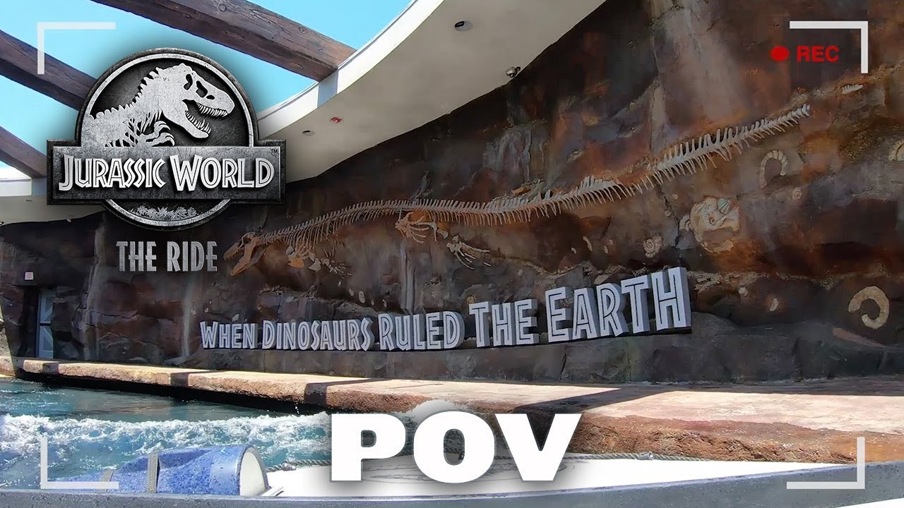 POV Front Seat – Jurassic World – The Ride