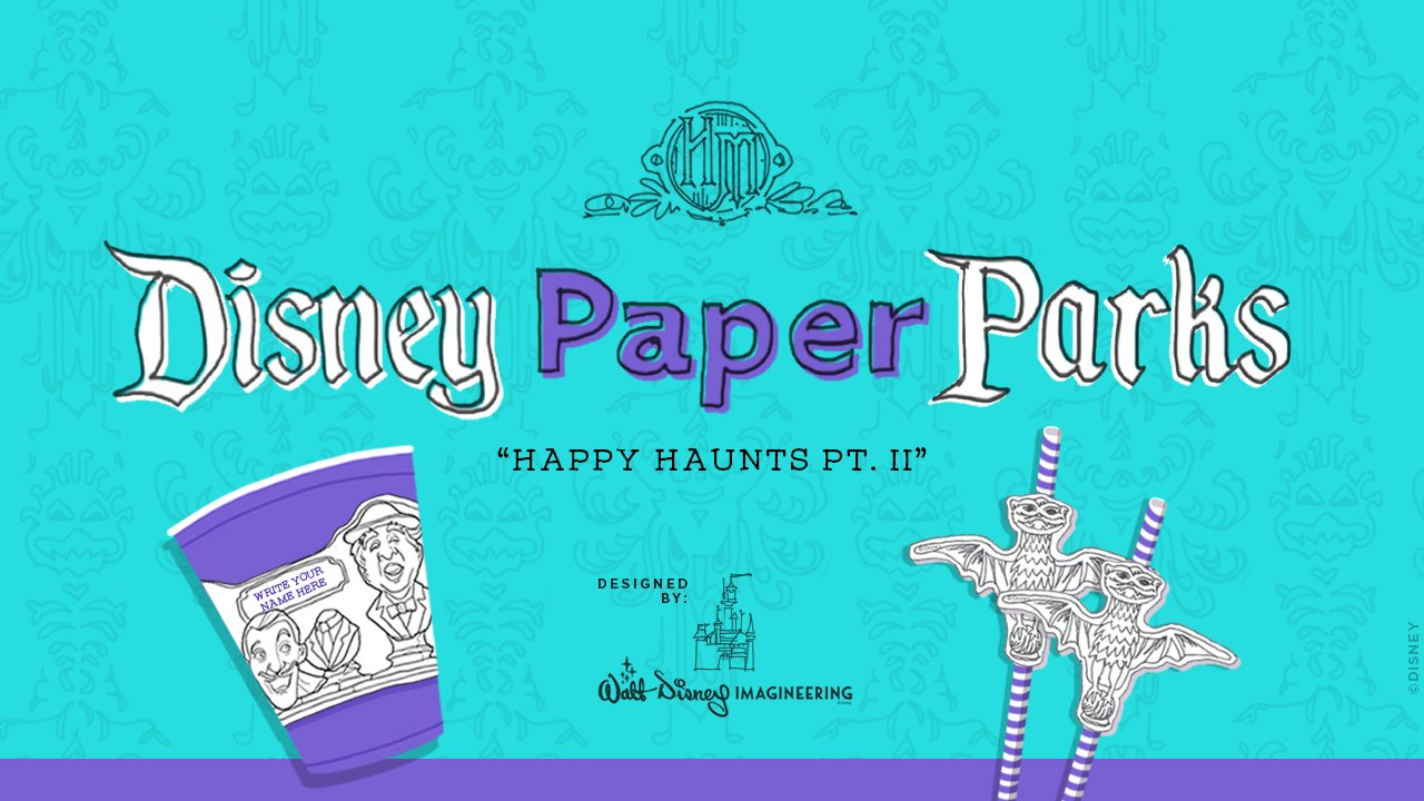Disney Parks Blog Presents Disney Paper Parks: Happy Haunts Edition Designed by Walt Disney Imagineering, Part 2