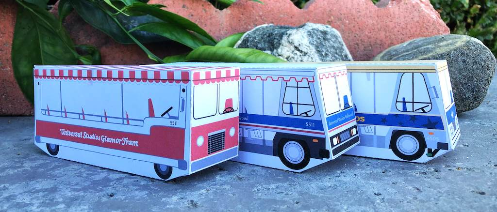 Universal Studios Hollywood Shares Tram Tour Paper Craft